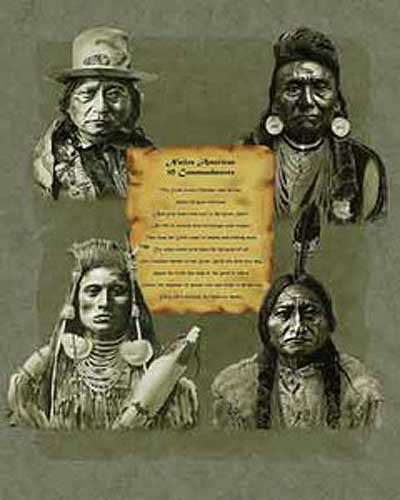 Native American 10 Indian Commandments