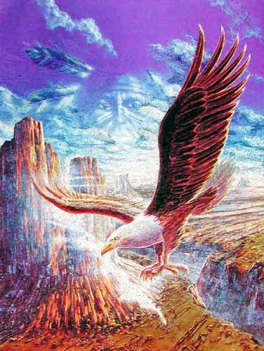 Weißkopfadler Fantasie Alu Bild