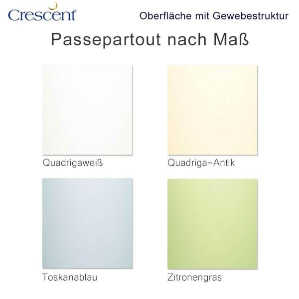 Crescent Passepartout mit Gewebestruktur