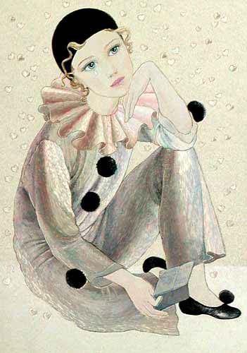 Pierrot with Letter