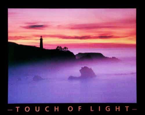 Leuchtturm bei Sonnenaufgang Poster