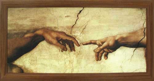 Hände, Creation of Adam