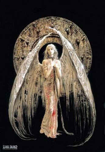 White Angel Luis Royo Poster 40x50 cm