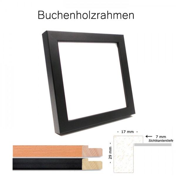 Buchenholz-Bilderrahmen 15x15 in Buche und Schwarz matt