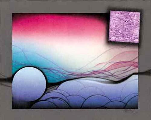 Kreis und Quadrat Abstrakt Kunstdruck 56x71 cm