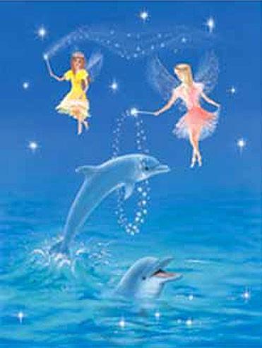 Feen und Delfine Bild