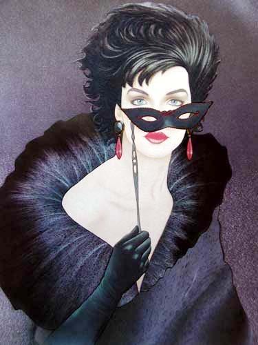 Lady in Black II by Michael Woodward