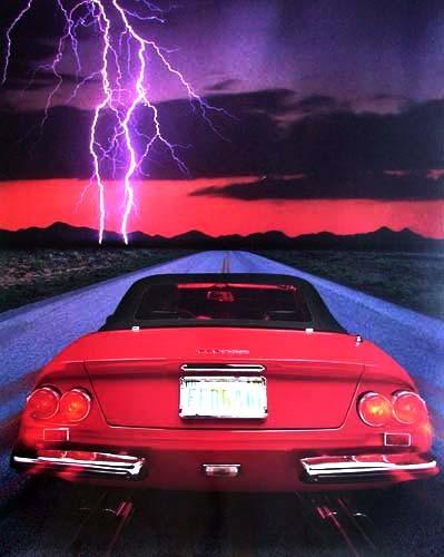 Ferrari und Blitz