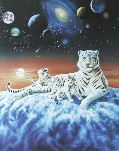 White Tiger Fantasy by Chiu (laminiert)