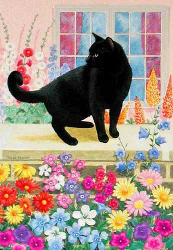 Schwarze Katze by Julia Pewsey