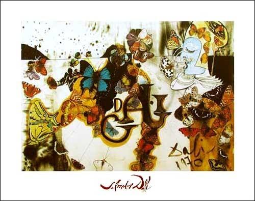 Kunstdruck 40x50 cm: La Bataille de Fleurs, Dali Salvador