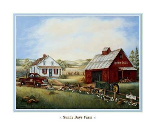 Alte Farm / Landwirtschaft Kunstdruck 20x25 cm