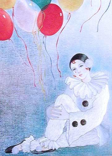Pierrot und Luftballons