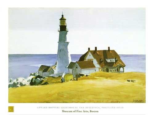 Leuchtturm Hopper Kunstdruck