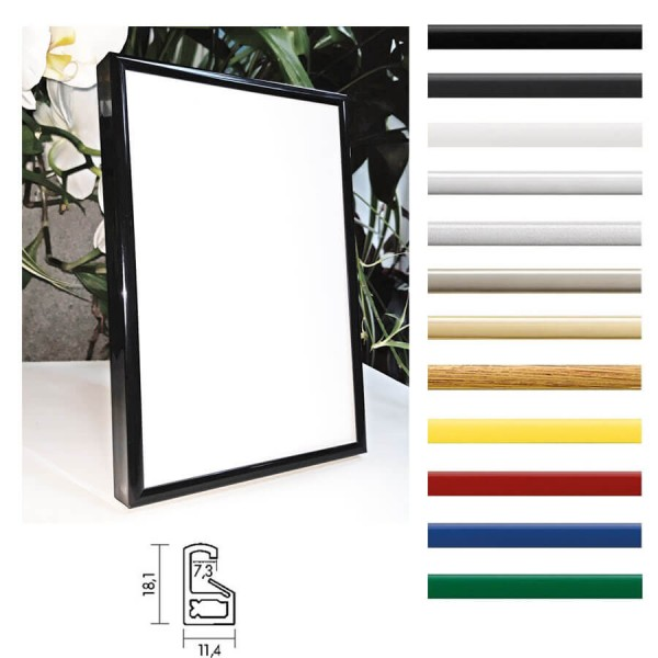 Kunststoff-Bilderrahmen 40x30 / 30x40 cm Art Line