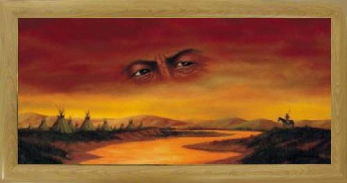 Wandbild 40x77 cm : Indianer Vision