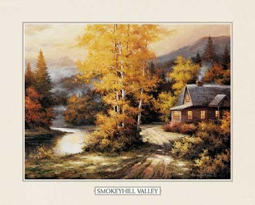Smokeyhill Tal von Chiu Lithodruck 56x71 cm