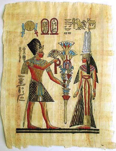Nefertari und Ramses II Papyrus-Bild