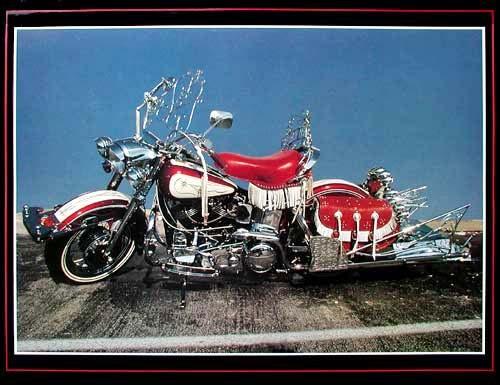 Roter Harley Davidson Poster