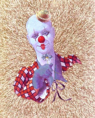 Clown mit Blume by Stephen Pearson