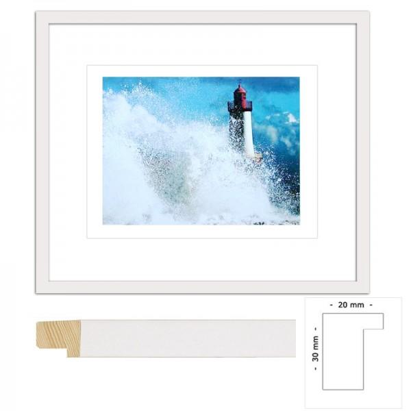 Wandbild Leuchtturm im Sturm Bild fertig gerahmt