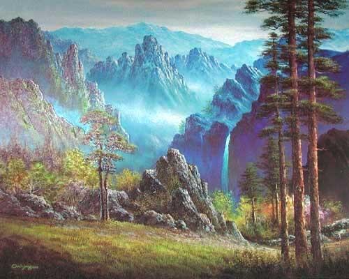 Biryong Falls in Mount Sorak by Han Jin