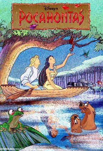 Pocahontas und John im Boot
