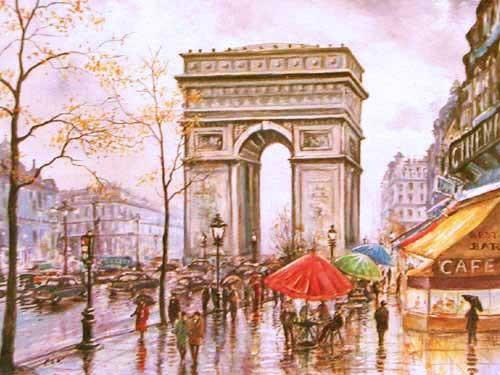 Der Pariser Triumphbogen im Herbst