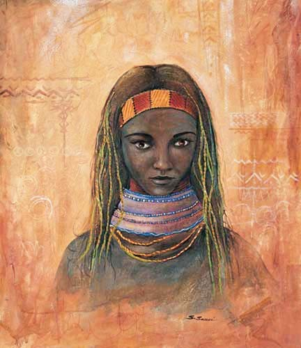 Afrikanische Frau Poster