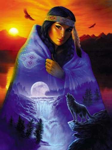Cloak of Vision / Indianerin Alu Bild