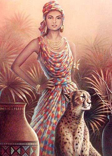 Frau und Gepard by Chiu