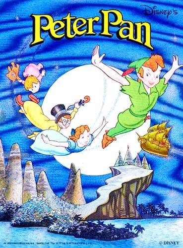 """Alubild mit 3-D Effekt """"Peter Pan, Wendy, Klaus und Michael"""""""