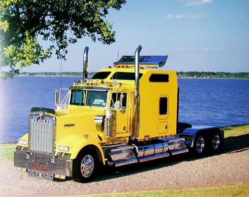 Yellow Kenworth by Richard Stockton