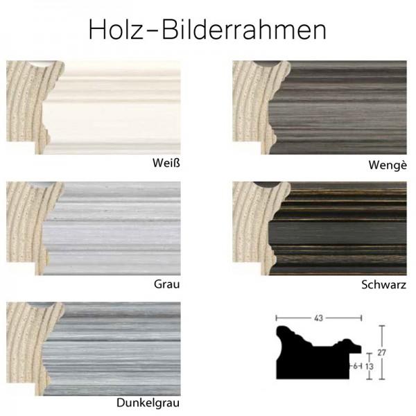 Holzrahmen 100x120 cm, weiß, grau, wenge, schwarz- Nielsen Profil Antigo 43