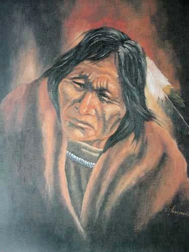 Indianer Potrait II by Vogtschmidt