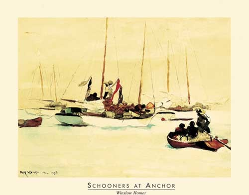 Schnooners at Anchor