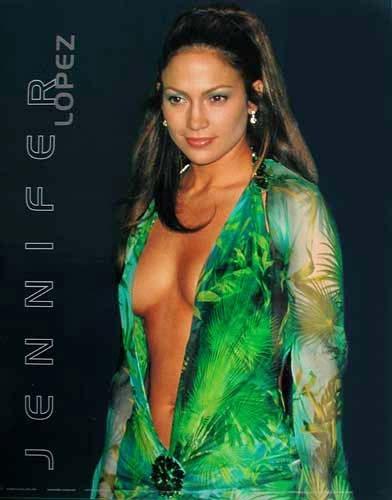 Lopez Jennifer, Green Dress (laminiert) *