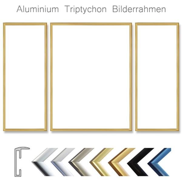 Triptychon Bilderrahmen aus Aluminium - viele Formate
