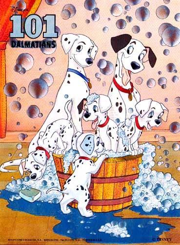 101 Dalmatiner beim Waschen