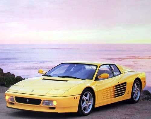 Gelber Ferrari Testarossa, Poster