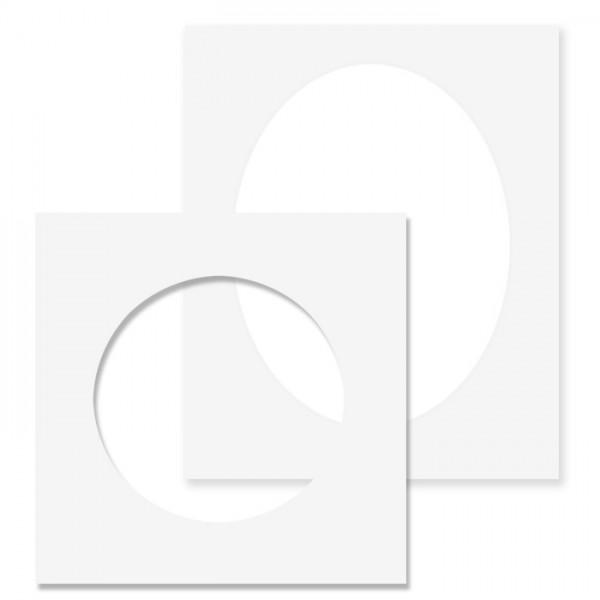 Passepartout mit 1 Ausschnitt, rund/ oval