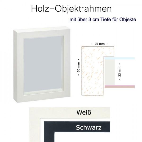 Objektrahmen, 3-D Rahmen 30 x 80 in Weiß und Schwarz matt