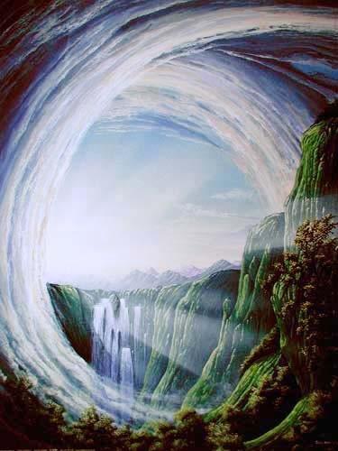 Mystische Welt von Huber Kunstdruck 56x71