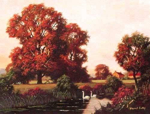 Herbst von Vincent Selby- Alu Bild