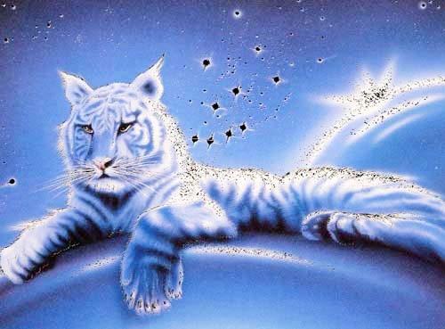 Weißer Tiger Fantasy