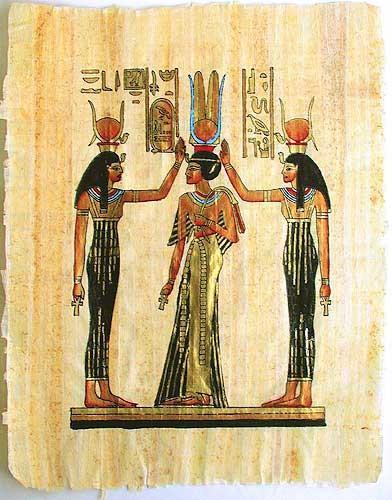 Hathor und Nefertari Papyrus