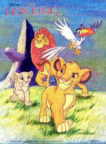 König der Löwen alle Hauptfiguren - heller Hintergrund Postkarte