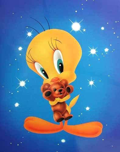 Tweety und Teddybär Poster 40x50 cm