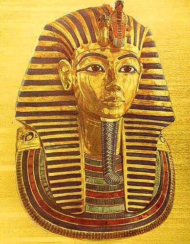 Alu Druck Tutanchamun Maske