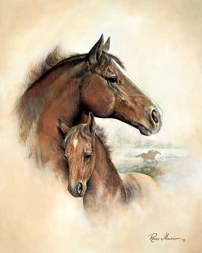 Horse and Foal by Ruane Manning